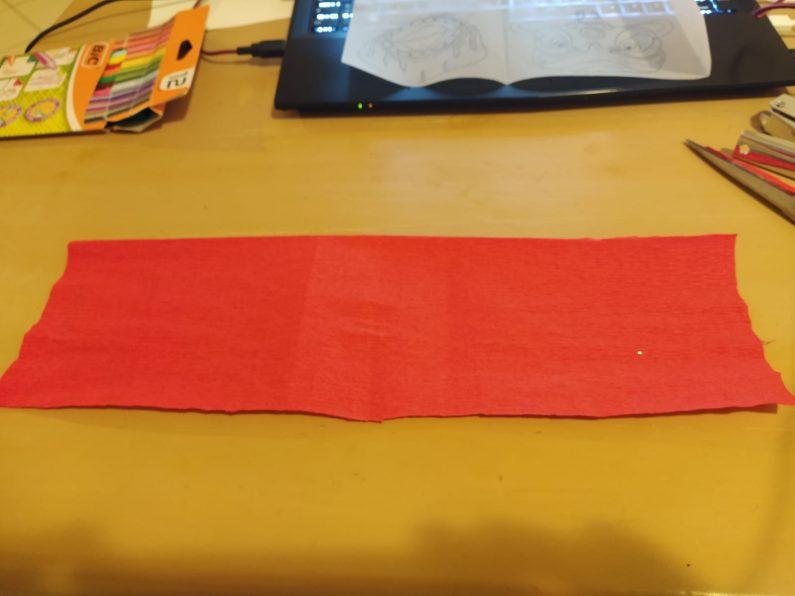 bande de papier crépon