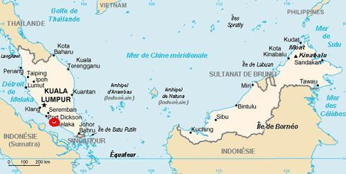 La situation de Malacca