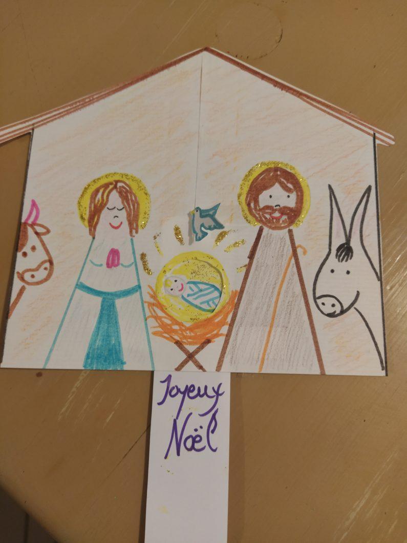 diy-cartes-noel-creche avec jesus