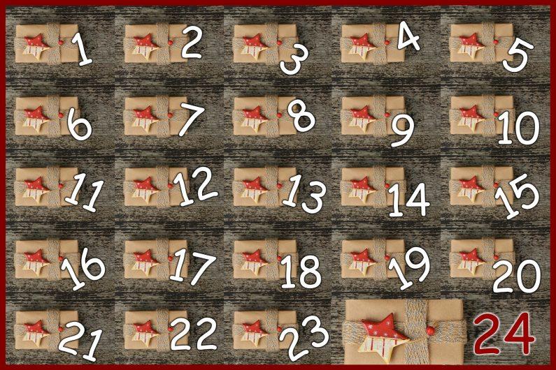 calendrier boîtes