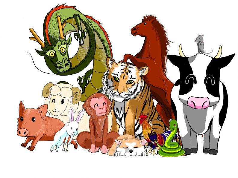 Les douze animaux du zodiaque