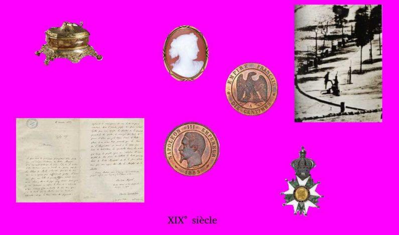 Jeu de l'archéologue : les objets trouvés : Tableau XIX° siècle
