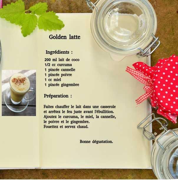 recette golden latte