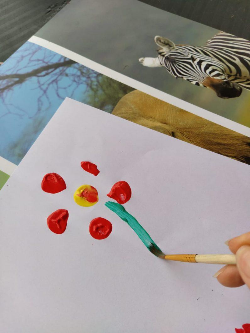 Et une tige verte et faire un bouquet
