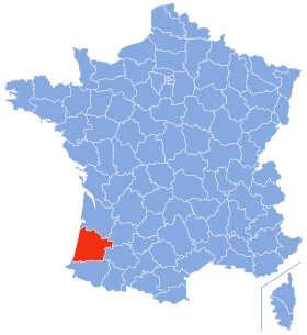 carte Les Landes