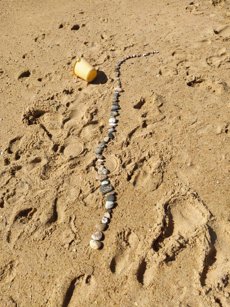 land art su plage